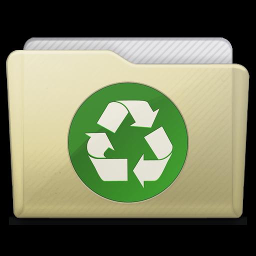 beige folder recycle