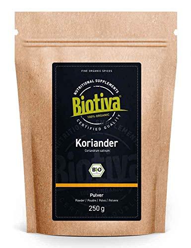 Coriandolo Biologico - 250g - qualità superiore dalla zona mediterranea - certificato in Germania (DE-eco-005) - per piatti asiatici